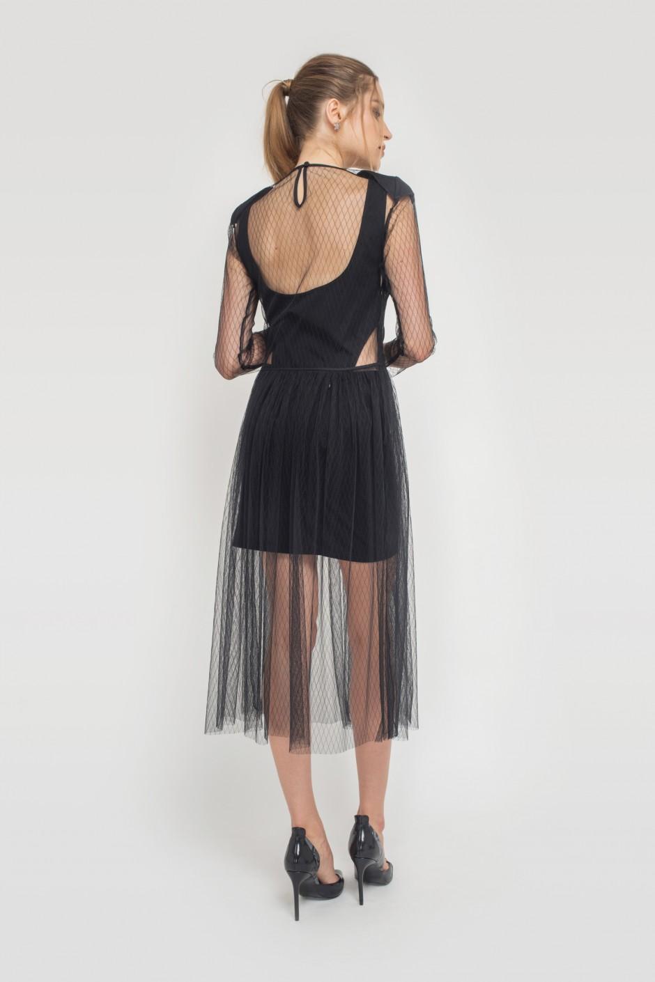Edgy Netting Dress