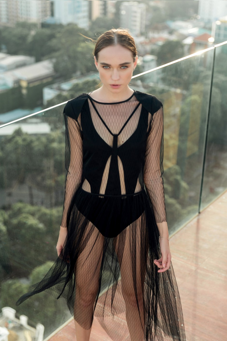 Edgy Netting Dress