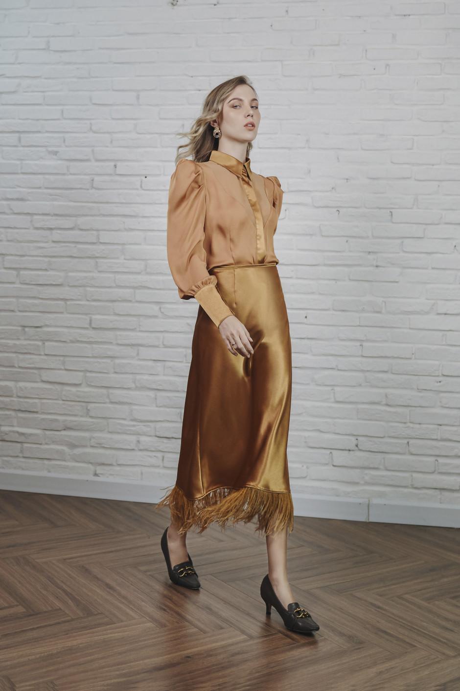 Mustard Romi skirt