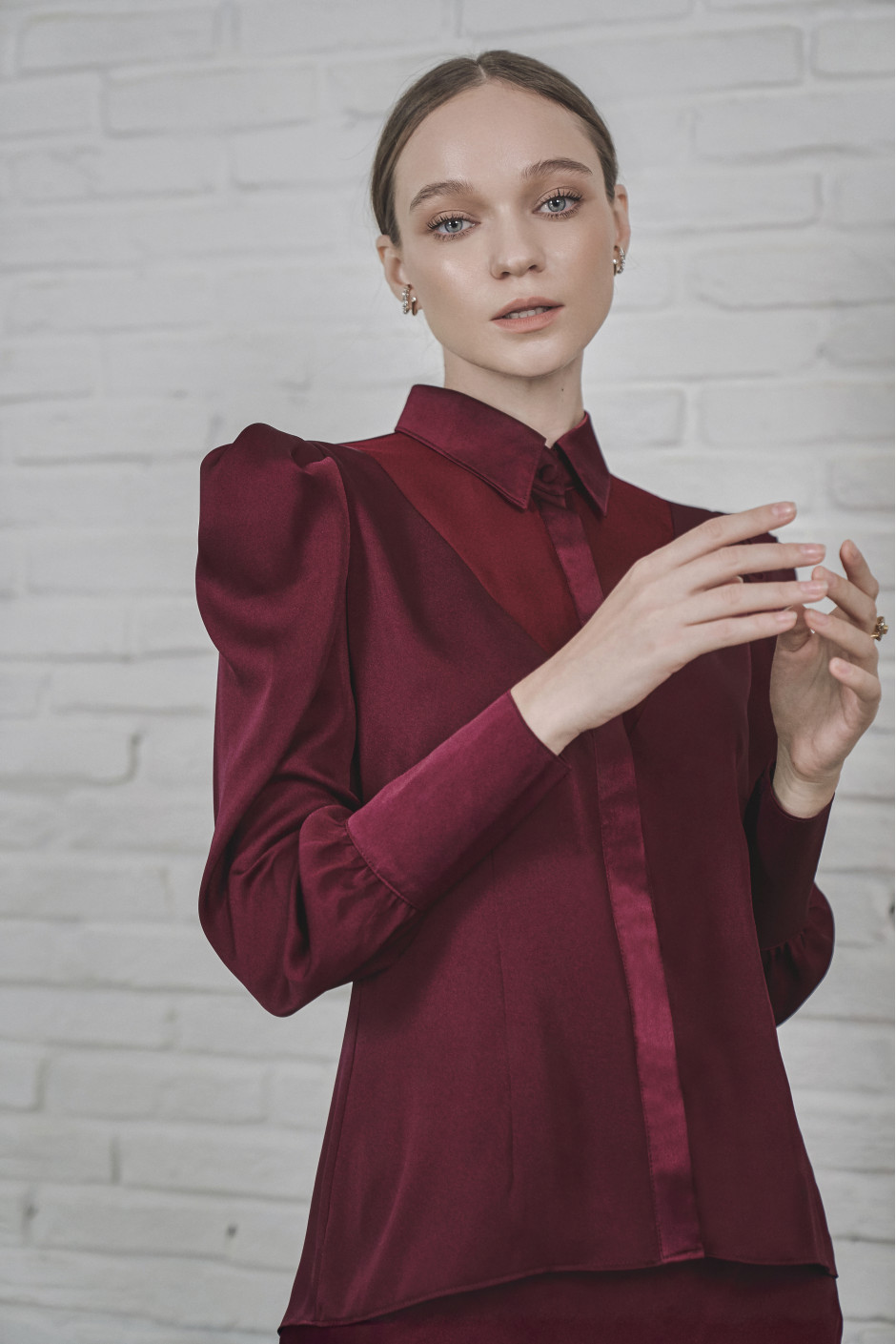 Burgundy Reli Blouse