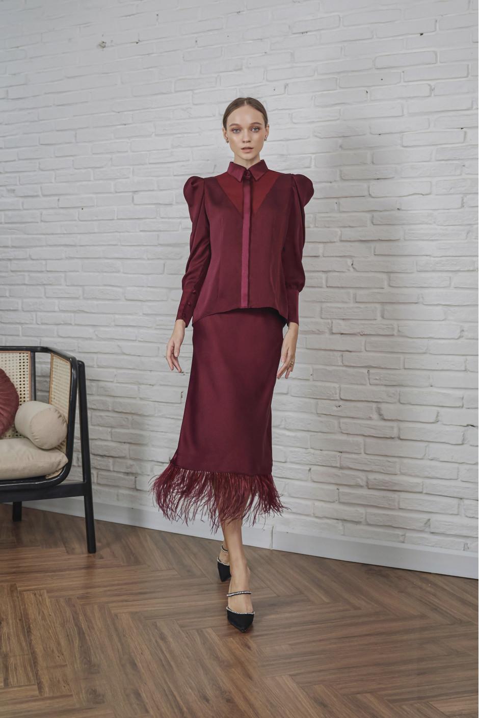 Burgundy Romi skirt