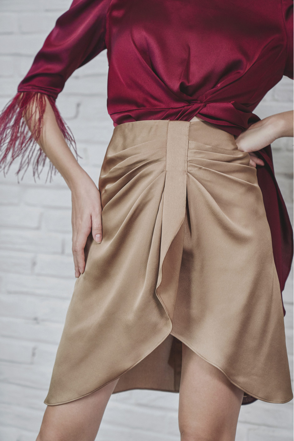 Golden Brown Liya skirt
