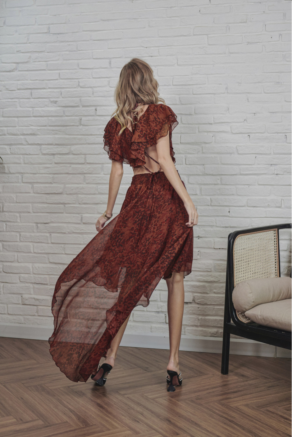 Burgundy Alina Dress