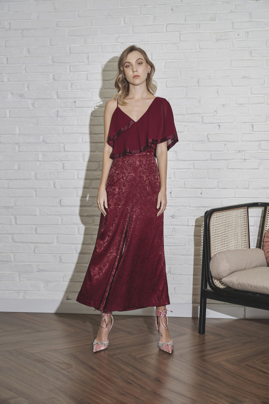 Burgundy Lauryn Jumpsuit