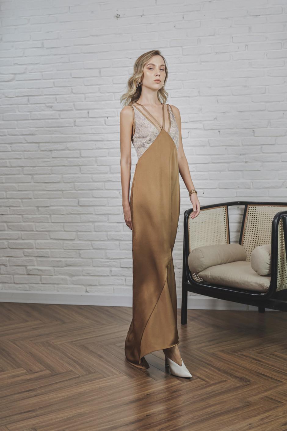 Golden Brown Angie Dress