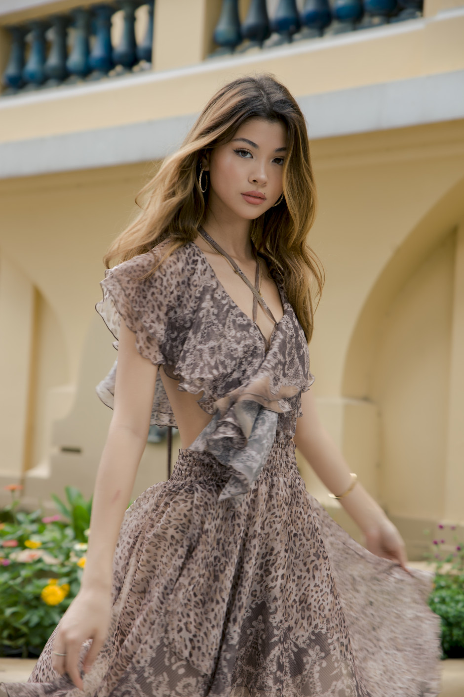 Alina Dress bronze